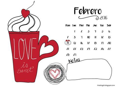 Calendario De Febrero 10 Mejores Ideas Sobre Calendario Febrero 2016 En