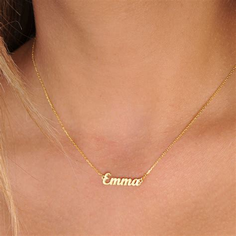 tiny names tiny gold name necklace personalized name