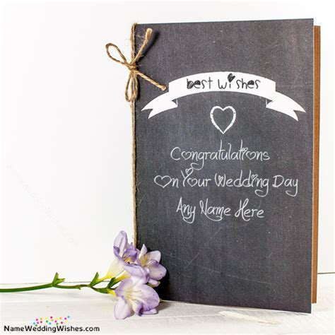 Best Wish Wedding Card Messages With Name