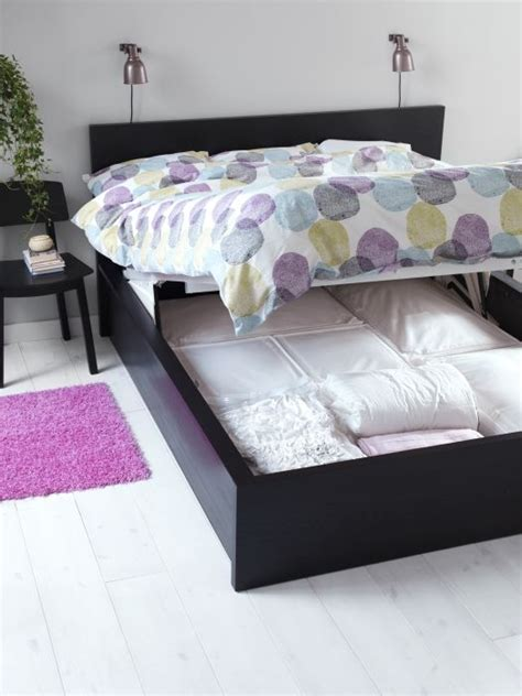 malm storage bed malm guest bed extra storage and storage beds