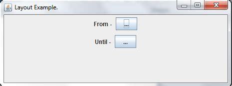 nested layout java java nested layouts flowlayout inside boxlayout