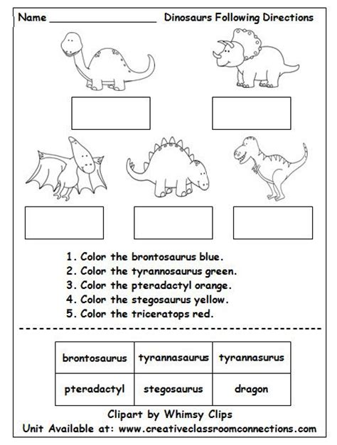 pattern based writing pdf dinosaur worksheet contains brief directions and cut and
