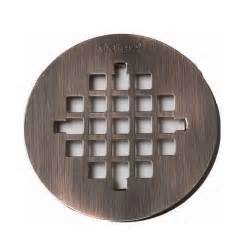 oatey 4 1 4 quot rubbed bronze finish shower drain cover