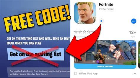 fortnite mobile invite code