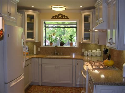 Small U Shaped Kitchen Remodel Ideas | u shaped kitchen designs for small kitchens garage wall