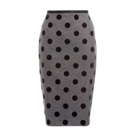polka dot pencil skirt  telegraph