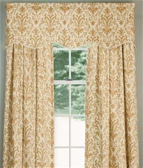 Curtains And Toppers Venetian Brocade Lined Scalloped Valance Country
