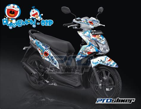 Sticker Striping Variasi Animasi Mio Fino Fi 1 motor scoopy modifikasi doraemon automotivegarage org