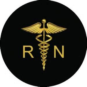 registered nurse logo spare tire cover