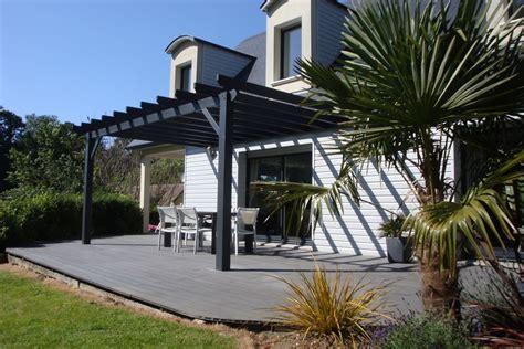 terrasse pergola terrasse et pergola bois 224 martin eglise 76370 gt djsl bois