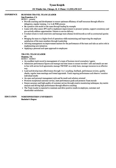 Adventure Tour Leader Sle Resume by Resume For Team Leader Yun56 Co