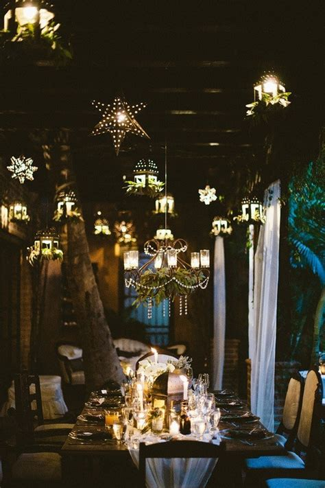 Hanging Light Decorations 35 Inspirational Ideas To Make A Stunning Starry Wedding