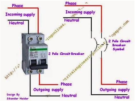how to wire a pole circuit breaker electrical