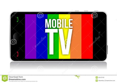 Tv Mobil mobile tv illustration design stock photo image 26470100