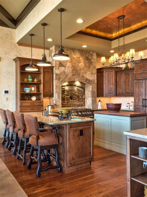 rustic kitchen island lighting photos hgtv