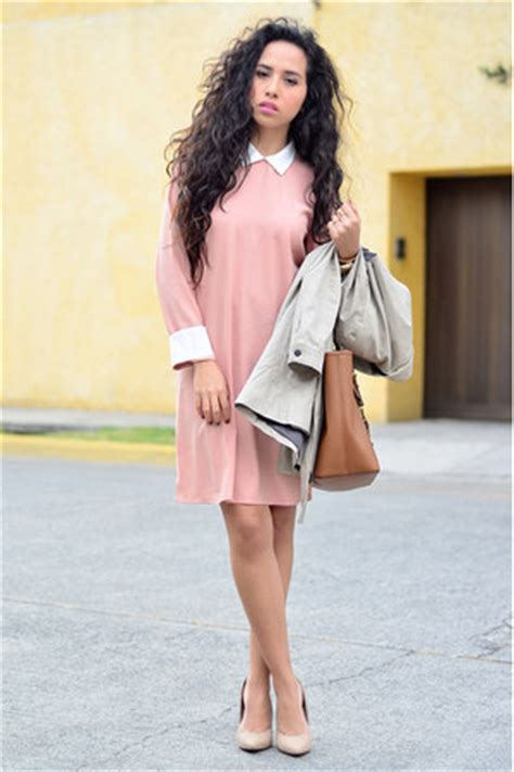 Shopping Doori Trench Coat Dress by Light Pink Collar Front Row Shop Dresses Beige Trench