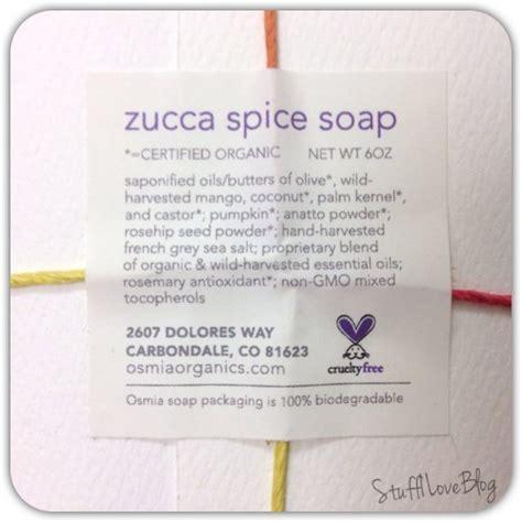 Handmade Soap Ingredients - zucca spice soap from osmia organics stuff i