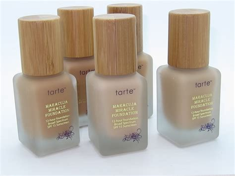 tarte foundation colors tarte maracuja miracle foundation review swatches