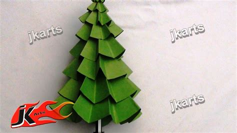 how to make a christmas tree out of dollar bills how to make paper tree diy decorations jk arts 082