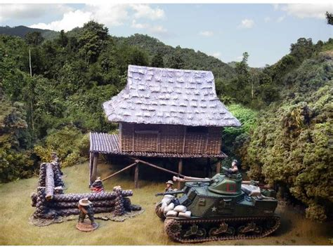 vietnam house vietnam house with bamboo reed walls 28mm 1 56