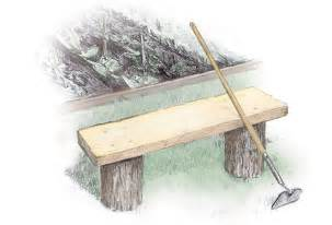 how to make log benches 3 easy to build outdoor benches diy earth news