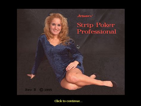 strip poker professional dos  game retrogamescz