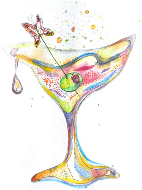 martini painting martini painting watercolor cocktail in the by