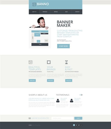 free responsive website templates for advertising agency marketing agency responsive website template 48325