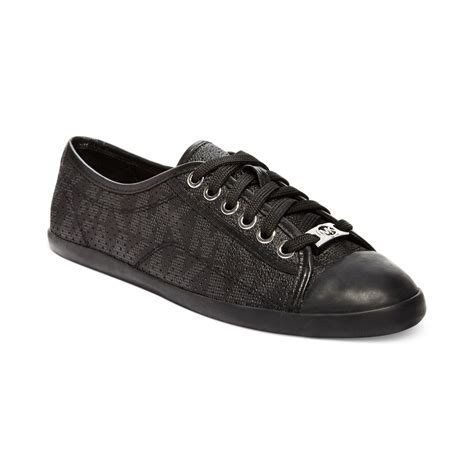 black michael kors sneakers michael kors michael kristy sneakers in black lyst
