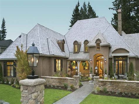 french country home plans one story cottage style single story home exterior french country