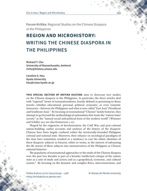 Microhistory Essay by Region And Microhistory Writing The Diaspora In The Philippines Pdf Available