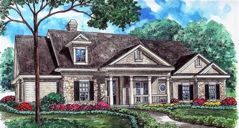 genteel house plan with central rotunda 67003gl 1st genteel house plan with central rotunda 67003gl