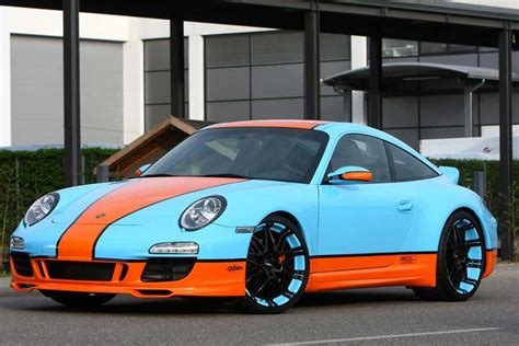 Racing Porsche 911 by Oxigin S Gulf Racing Style Porsche 911 Carscoops