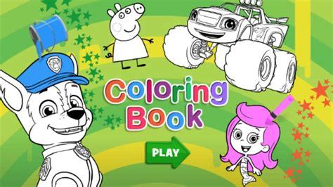 nick jr coloring book nick jr coloring book for