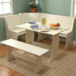 Kitchen Nook Table Set 3 Antique White Kitchen Dining Breakfast Room Set Corner Nook T