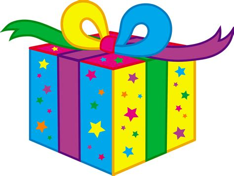 kids birthday party present free clip art