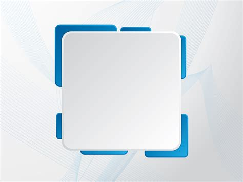 Promotional Backgrounds Abstract Blue Border Frames White Templates Free Ppt 2014 Powerpoint Templates