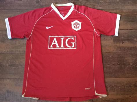 2006 2007 Manchester United Home Original Jersey Size L Ronaldo 7 global classic football shirts 2006 manchester united vintage soccer jerseys