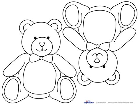 printable teddy template teddy templates az coloring pages