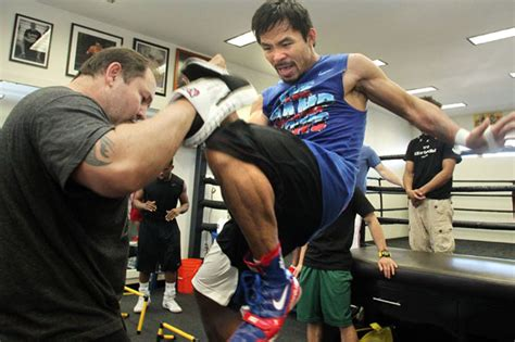 exclusive training manny pacquiao for the floyd mayweather