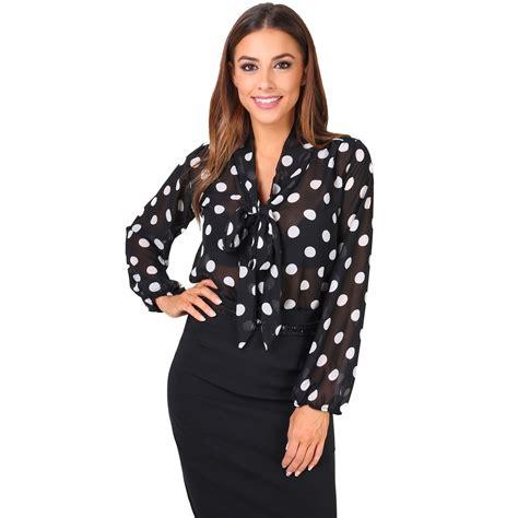See Through Sleeve Top krisp womens see through chiffon blouse tie