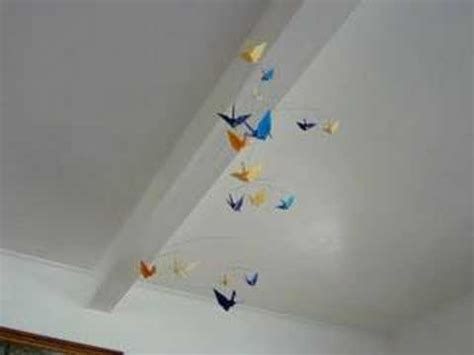 How To Hang A Mobile From The Ceiling by Hanging Paper Crane Origami Mobile