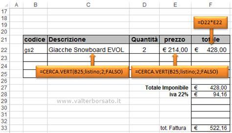 tutorial excel cerca verticale fattura in excel con cerca verticale funzione cerca vert