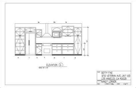 Kitchen Design Autocad Computer Drafting For Interior Designer Nancy Lerner Kesign Design Consulting