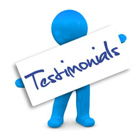 view our customer testimonials and pictures to get testimonials