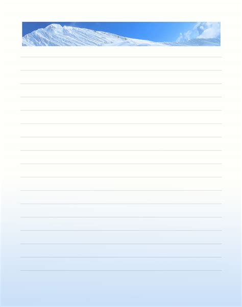 free winter writing paper 8 best images of printable winter stationery free