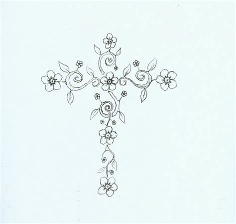 floral cross tattoos on cross tattoos tattoos and
