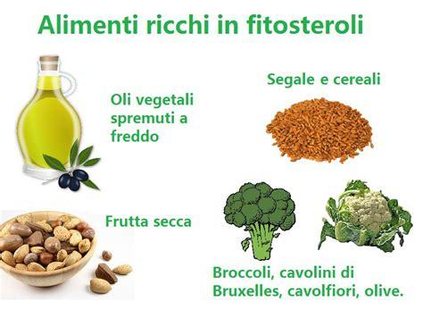 alimenti ricchi colesterolo fitosteroli cosa sono dove si trovano perch 233 sono