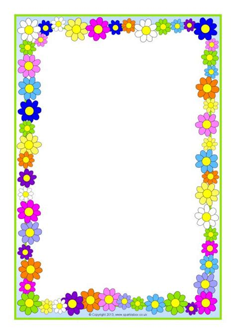 new year page border sparklebox flowers a4 page borders sb10393 sparklebox