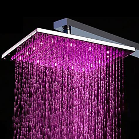 led light shower 10 inch brass shower with color changing led light